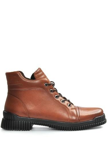 Vizon Ayakkabı Hakiki Deri Bot Taba